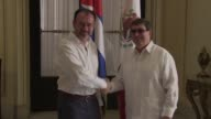 Mexican Foreign Minister Luis Videgaray met with his Cuban counterpart Bruno Rodriguez Parrilla Friday during his official visit to the island