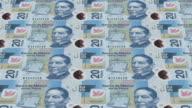mexican pesos bills printing - animation