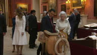 Mexican president begins UK state visit Showing Interior shots Queen Elizabeth II Prince Philip Duke of Edinburgh Mexican President Enrique Pena...