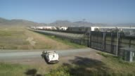 US Mexico Border Fence at US Mexico Border on April 22 2012 in San Diego South California