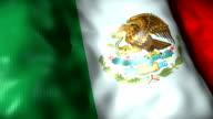 Mexico Flag waving, looping