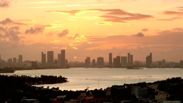 Miami zonsondergang Skyline