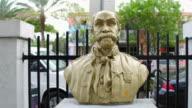 Miami, United States: Maximo Gomez statue at the Domino Park in Little Havana
