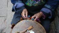 Miao ethnischen traditionelles Weben Kunsthandwerk, nach oben gerichtetem pan, MS