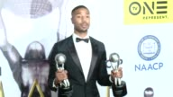 Michael B Jordan at 47th NAACP Image Awards in Los Angeles CA