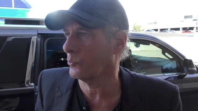 INTERVIEW Michael Bolton talks about his show Bolt Of Talent while departing at LAX Airport in Los Angeles in Celebrity Sightings in Los Angeles