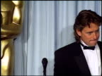 Michael Douglas at the 1988 Academy Awards at the Shrine Auditorium in Los Angeles California on April 1 1988