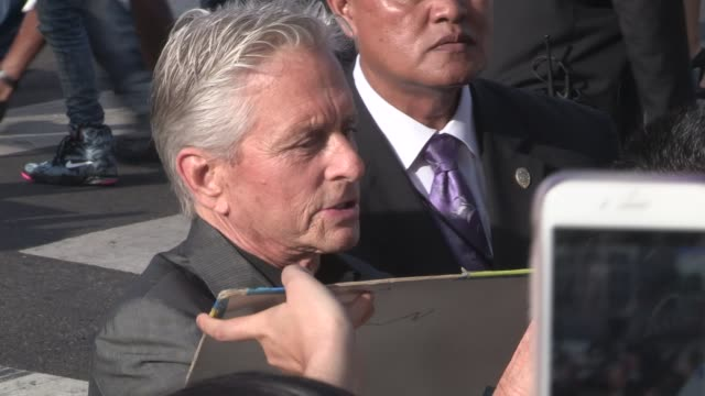 Michael Douglas at the AntMan Premiere After Party in Hollywood in Celebrity Sightings in Los Angeles