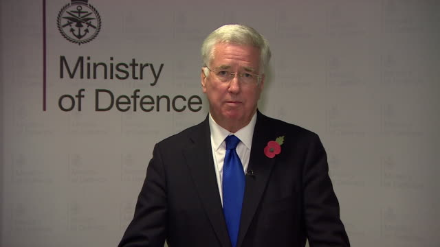 Michael Fallon announcing his resignation as Defence Secretary following allegations of sexual harassment