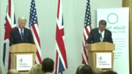 Michael Fallon joint press conference with US Defence Secretary Ash Carter speech / Michael Fallon and Ash Carter question and answer session SOT