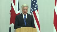 Michael Fallon joint press conference with US Defence Secretary ENGLAND London Westminster INT Defence Secretary Michael Fallon and Ash Carter into...
