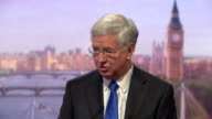 Michael Fallon saying 'our Vanguard submarines I can absolutely assure you are safe and in isolation when out on patrol' and are not at risk of a...