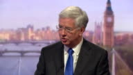 Michael Fallon talking about government investment into the armed forces