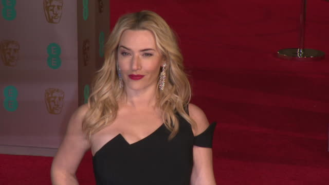 Michael Fassbender Kate Winslet at The EE British Academy Film Awards at The Royal Opera House on February 14 2016 in London England