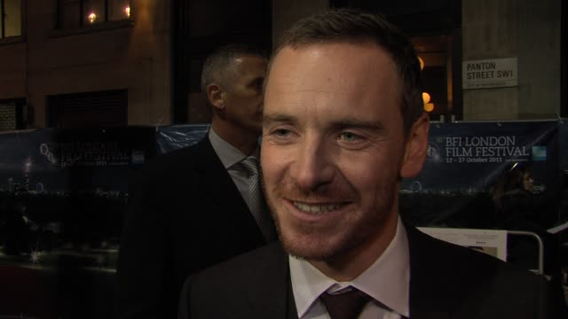 Michael Fassbender on his German how he chooses his parts at the A Dangerous Method UK premiere 55th BFI London Film Festival at London England