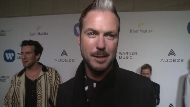 INTERVIEW Michael Fitzpatrick on the event at Warner Music Group Grammy Party in Los Angeles CA