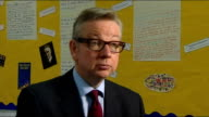Michael Gove calls for private schools to be the model for state schools Gove/Headteacher interview ENGLAND London Stratford London Academy of...