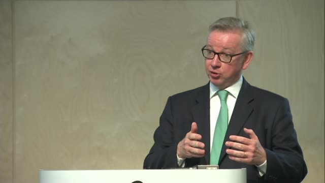 Michael Gove speech Michael Gove answers questions SOT
