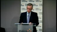 Michael Gove speech to Policy Exchange conference Gove speech SOT