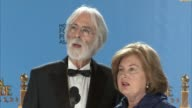 SPEECH Michael Haneke on winning the award and working with his fantastic actors 70th Annual Golden Globe Awards Press Room at The Beverly Hilton...