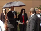 Michael Jackson at the Funeral of Johnnie L Cochran Jr Arrivals at West Angeles Cathedral in Los Angeles California on April 6 2005