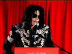 Michael Jackson confirms residency at 02 at the Michael Jackson This Is It Performances Announcement at London