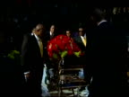 Michael Jackson's glittering goldplated casket was placed at the front of the stage at a public memorial here Tuesday as a gospel choir sang We are...