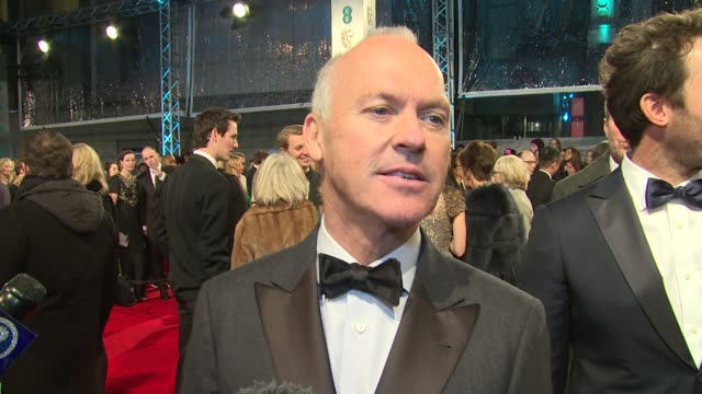 INTERVIEW Michael Keaton on being at the BAFTAs at The EE British Academy Film Awards London England February 8th 2015