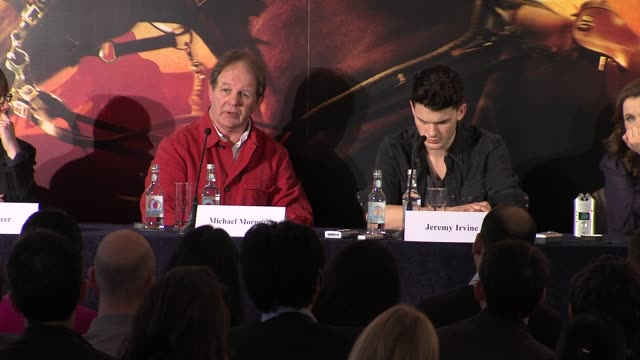 Michael Morpurgo on how Spielberg depicts the horrors of war at War Horse Press conference Part 2 at Claridges Hotel on January 9 2012 in London...