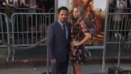 Michael Pena Brie Shaffer at 'CHiPS' Premiere in Los Angeles CA
