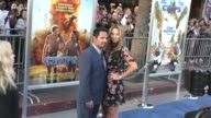 Michael Pena Brie Shaffer at the 'Chips' Los Angeles Premiere at TCL Chinese Theatre on March 20 2017 in Hollywood California