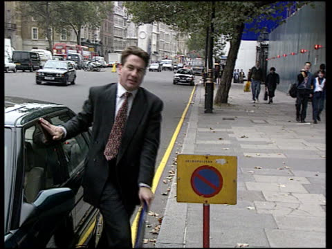 Michael Portillo ten year anniversary CF ENGLAND MS Michael Portillo arriving PAN R as C11019301/ London along twds Cabinet Office ITN Whitehall