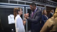 Michael Strahan and Andi Dorfman at JCPenney And Michael Strahan Launch Collection By Michael Strahan at ArtBeam on September 30 2015 in New York City