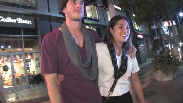 Michael Trevino and Jenna Ushkowitz at The Wiltern in Los Angeles on 10/5/2011