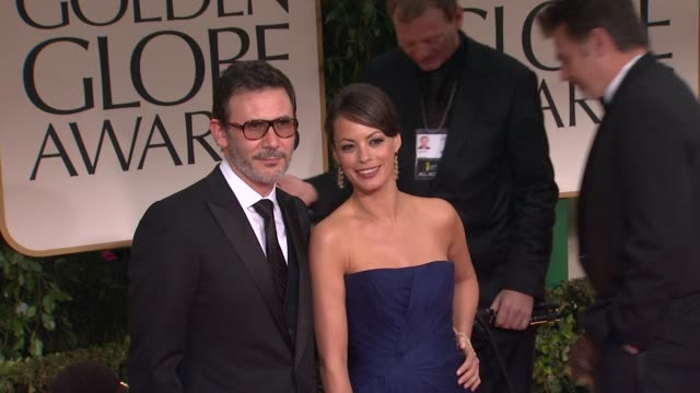Michel Hazanavicius and Berenice Bejo at 69th Annual Golden Globe Awards Arrivals on January 15 2012 in Beverly Hills California
