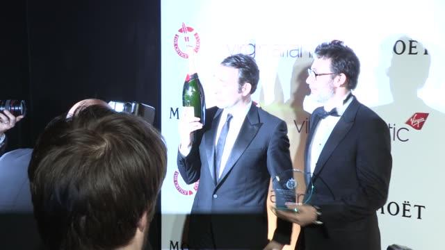 Michel Hazanavicius Jean Dujardinat The 32nd London Film Critics' Circle Awards 2012 London UK on 18th January 2012