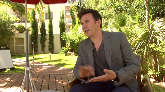 Michel Hazanavicius on the challenges of the film thinking differently rewriting the script at The Artist Interview 64th Cannes Film Festival at All...