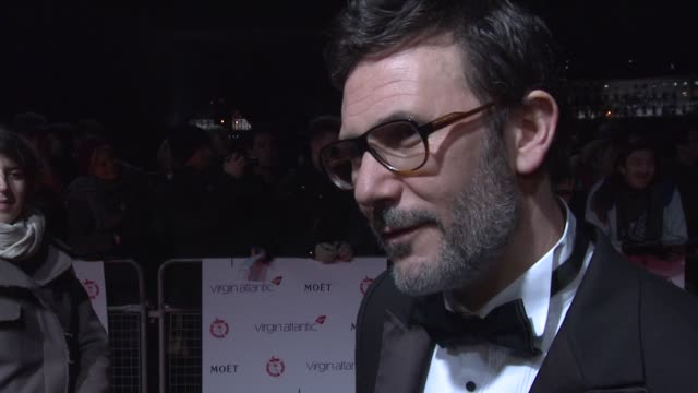 Michel Hazanavicius on the success of The Artist at 32nd London Critics' Circle Film Awards 2012 Red Carpet Arrivals at BFI Southbank on January 19...