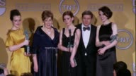 SPEECH Michelle Dockery Allen Leech Phyllis Logan Amy Nuttall Sophie McShera on the award at 19th Annual Screen Actors Guild Awards Press Room...