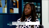Michelle Gayle criticises Eastenders as being 'too white' ENGLAND London INT Michelle Gayle LIVE STUDIO interview SOT