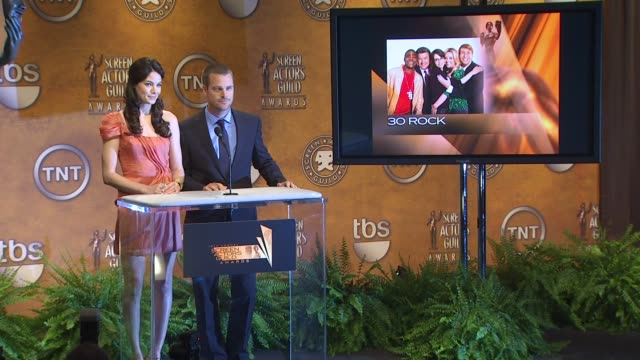 Michelle Monaghan and Chris O'Donnell announce the 16th Annual Screen Actors Guild Awards Nominations at the 16th Annual Screen Actors Guild Awards...