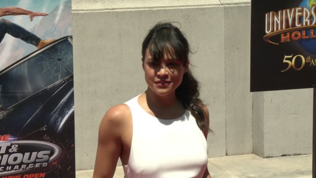 Michelle Rodriguez at Universal Studios Hollywood on June 23 2015 in Universal City California