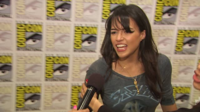 Michelle Rodriguez on how it feels to be at ComicCon at the ComicCon 2010 'Battle Los Angeles' at San Diego CA