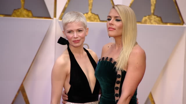 Michelle Williams and Busy Philipps at 89th Annual Academy Awards Arrivals at Hollywood Highland Center on February 26 2017 in Hollywood California 4K