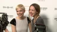 Michelle Williams and Zoe Kazan at the The Cinema Society Nancy Gonzalez Host A Screening Of 'Meek's Cutoff' at New York NY