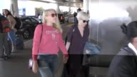 Michelle Williams Busy Philipps departing at LAX Airport in Los Angeles in Celebrity Sightings in Los Angeles