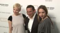 Michelle Williams Santiago Gonzalez and Zoe Kazan at the The Cinema Society Nancy Gonzalez Host A Screening Of 'Meek's Cutoff' at New York NY