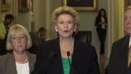 Michigan Senator Debbie Stabenow says at a regular press briefing that dreamers and working families need to know that someone has their back such as...