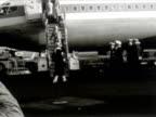 Mick Jagger and Marianne Faithfull disembark an aircraft at Sydney Airport