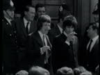 Official papers released on sixties drugs raid 47752/398 1051967 London Footage Jagger and Keith Richard stand on steps outside court with police in...